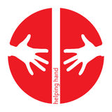 Helping hands red icon Stock Photos