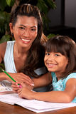 Helping with homework Royalty Free Stock Images