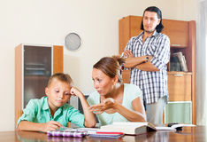 Helping with homework Royalty Free Stock Photo
