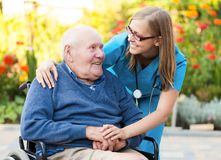 Elderly Homecare Stock Images