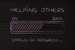 Helping others progress bar loading Royalty Free Stock Photo
