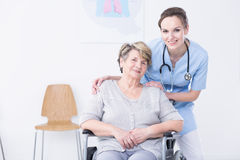 Helping people is my calling stock photo