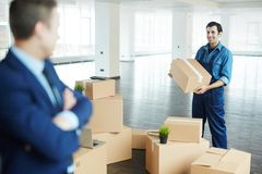 Helping with relocation Royalty Free Stock Photos