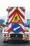 Helping safety truck on the road traffic sign highway Royalty Free Stock Photography