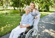 Helping senior woman Stock Photography
