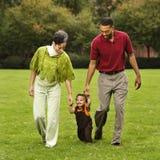 Helping toddler walk Royalty Free Stock Photos