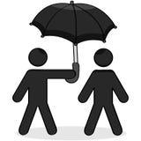 Helping umbrella Royalty Free Stock Photography