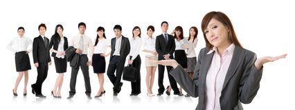 Helpless young business Royalty Free Stock Images