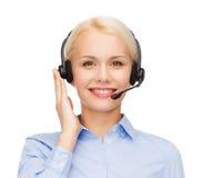 helpline żeński życzliwy operator obraz stock