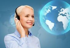 helpline żeński życzliwy operator Obrazy Stock