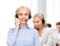 helpline żeński życzliwy operator Zdjęcia Stock