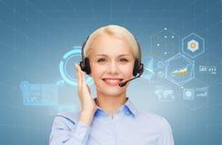 helpline żeński życzliwy operator zdjęcie stock