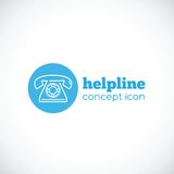 Helpline abstract concept icon or symbol Royalty Free Stock Photography