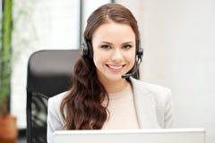 Helpline exploitant met laptop computer Royalty-vrije Stock Foto's