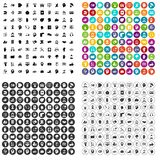 100 helpline icons set variant. 100 helpline icons set in 4 variant for any web design isolated on white Royalty Free Illustration
