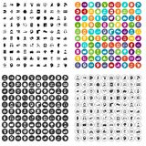 100 helpline icons set vector variant. 100 helpline icons set vector in 4 variant for any web design isolated on white Stock Photography