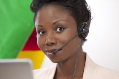 Helpline lady Royalty Free Stock Photos