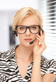 Helpline operator Stock Photography