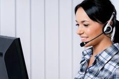 Helpline operator fotografia stock
