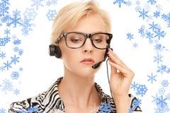 Helpline operator Stock Photography