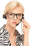 Helpline operator Royalty Free Stock Images