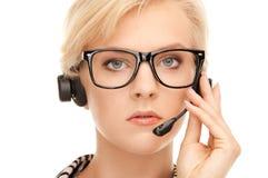 Helpline operator Stock Photo