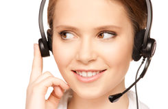 Helpline operator Royalty Free Stock Photos