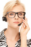 Helpline operator Royalty Free Stock Images