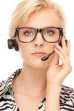 Helpline operator Royalty Free Stock Photography