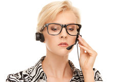 Helpline operator Royalty Free Stock Photo