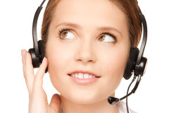 Helpline operator Royalty Free Stock Photography