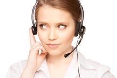Helpline operator Stock Image