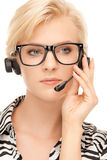 Helpline operator Royalty Free Stock Photos