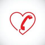 Helplinen eller telefonen könsbestämmer den abstrakta vektorsymbolsymbolen stock illustrationer