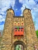Helpoort o portone dell'inferno, un portone medievale a Maastricht, Paesi Bassi immagini stock