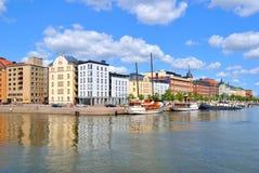 Helsínquia. Cais norte Fotografia de Stock Royalty Free