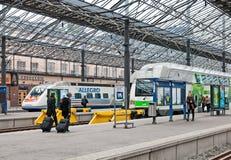 helsínquia finland A estação de trem central Imagem de Stock Royalty Free