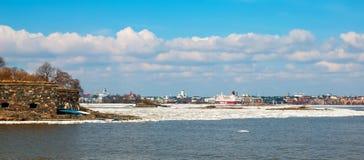 helsínquia finland Vista da cidade de Suomenlinna Imagens de Stock Royalty Free