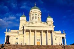 HELSÍNQUIA, FINLANDIA CERCA DO JANEIRO DE 2009: Catedral de Helsínquia Fotos de Stock