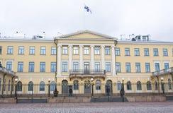 Helsínquia, Finlandia - 21 de dezembro de 2015: Construção do palácio presidencial Imagem de Stock Royalty Free