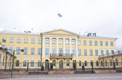 Helsínquia, Finlandia - 21 de dezembro de 2015: Construção do palácio presidencial Fotografia de Stock