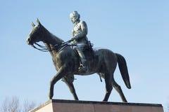 HELSÍNQUIA, FINLANDIA, O 21 DE JANEIRO DE 2014: O monumento ao marechal Man Foto de Stock Royalty Free