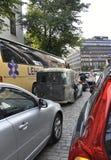 Helsínquia, o 23 de agosto de 2014 - carro do vintage na rua de Helsínquia em Finlandia Imagens de Stock