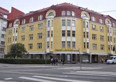 Helsínquia, o 23 de agosto de 2014 - construção histórica de Helsínquia em Finlandia Fotos de Stock Royalty Free