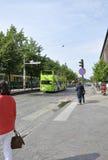 Helsínquia, o 23 de agosto de 2014 - opinião da rua de Helsínquia em Finlandia Fotos de Stock