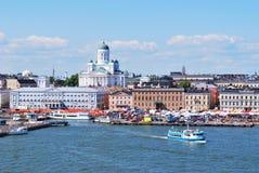Helsínquia, vista do mar imagens de stock