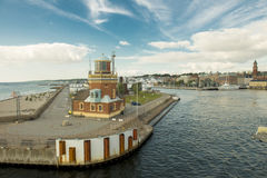 Helsinborg harbor Royalty Free Stock Images