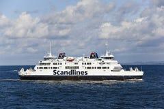 Helsinborg, Zweden: scandlines veerboot Royalty-vrije Stock Foto's