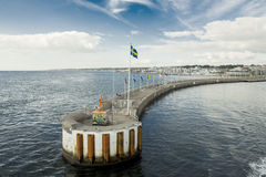 Helsingborg港口 免版税图库摄影