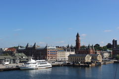 Helsingborg, Σουηδία λιμάνι Στοκ φωτογραφίες με δικαίωμα ελεύθερης χρήσης